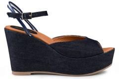 Victoria Wedge Sandal Jeans