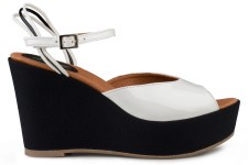 Victoria Wedge Sandal Blanc