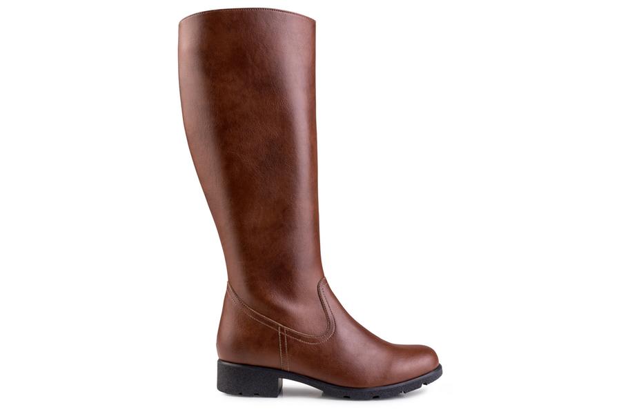 Grip+ Knee High Boot Marron