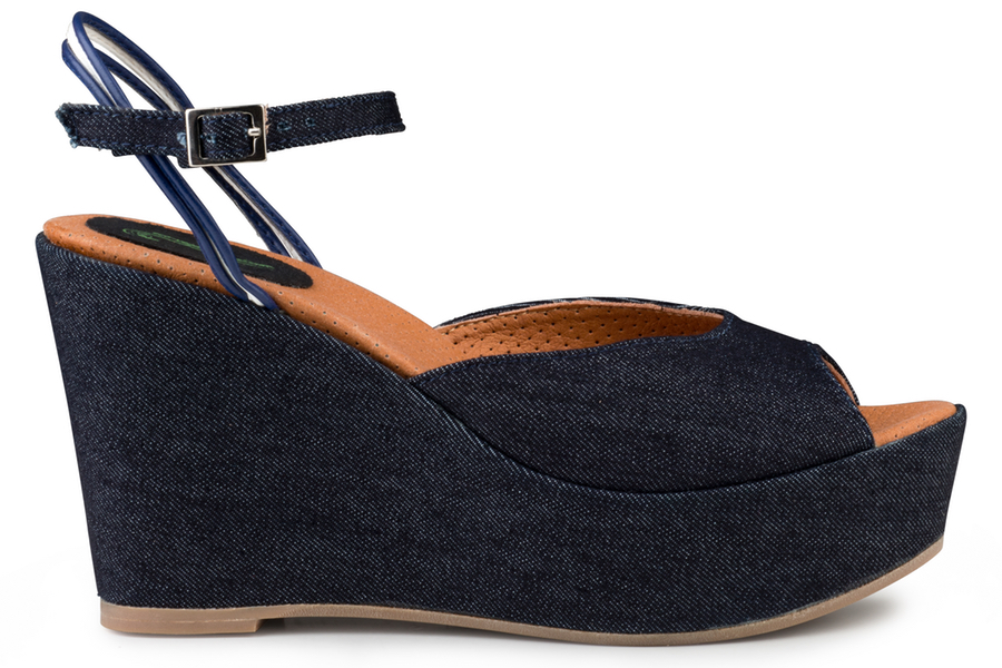 Victoria Wedge Sandal Jeans