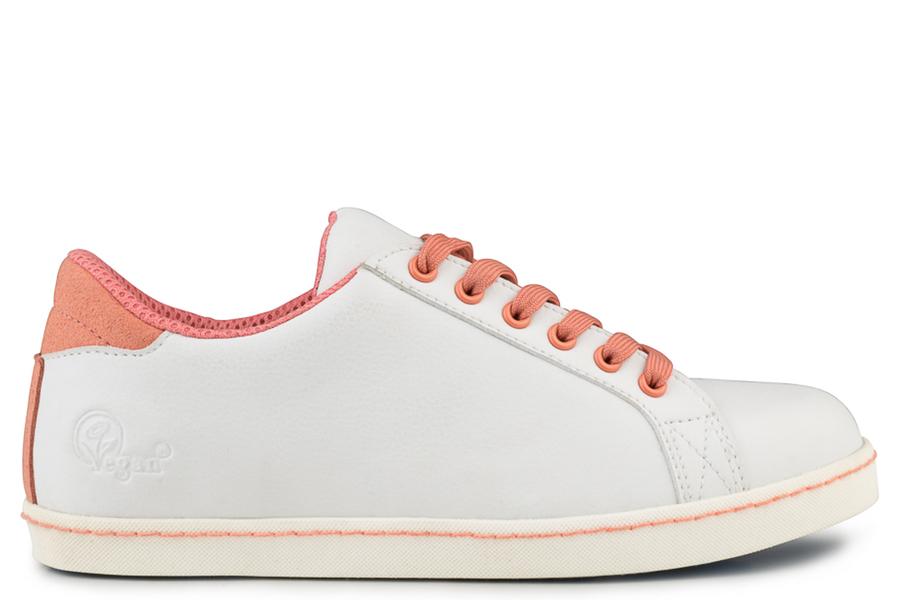 Soft sneaker Blanc/Corail