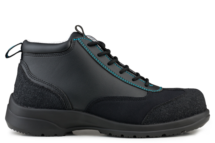 Ankle Boot Safety S3-SRC Noir/Bleu Trim